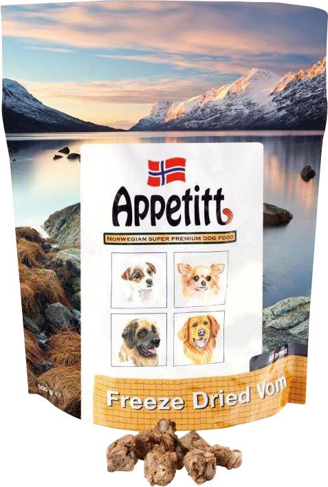 Hundfoder Appetitt Frystorkad Vom, 500 g