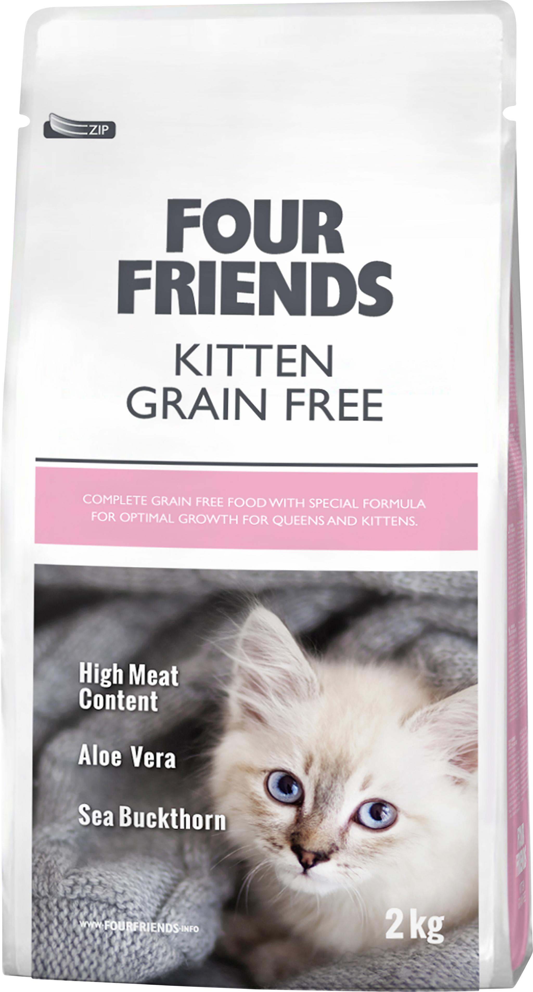 Kattmat Four Friends Grain Free Kitten, 2 kg
