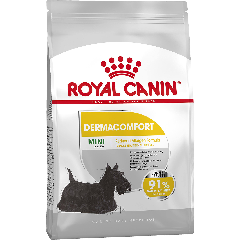 Hundfoder Royal Canin Mini Dermacomfort, 8 kg