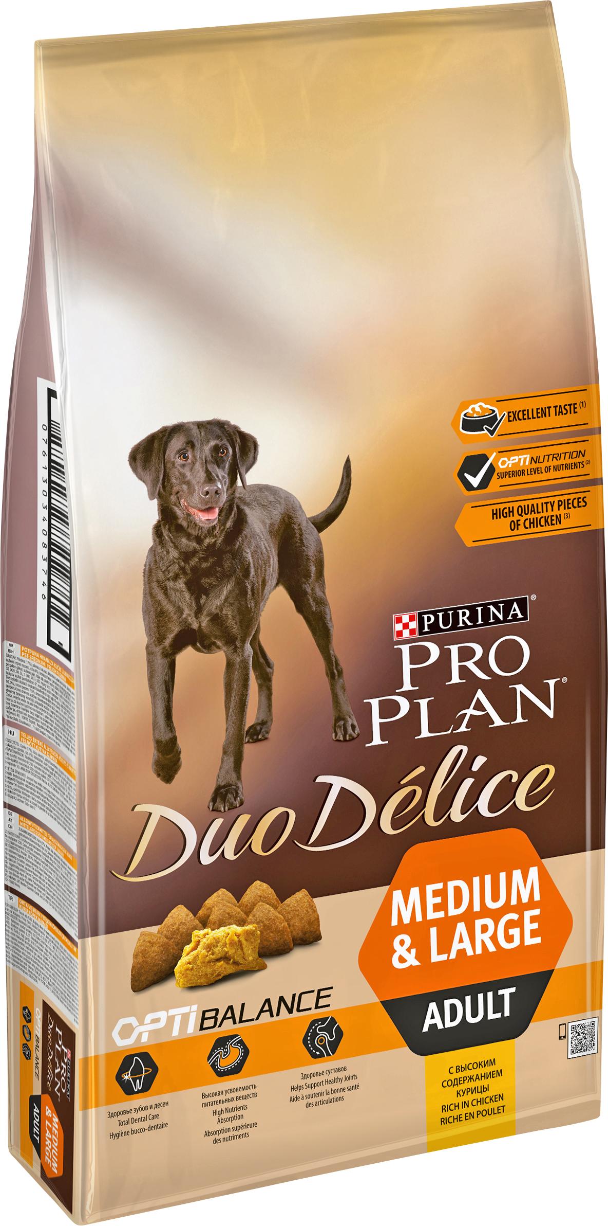 Hundfoder Pro Plan Duo Délice , kyckling & ris, 10 kg