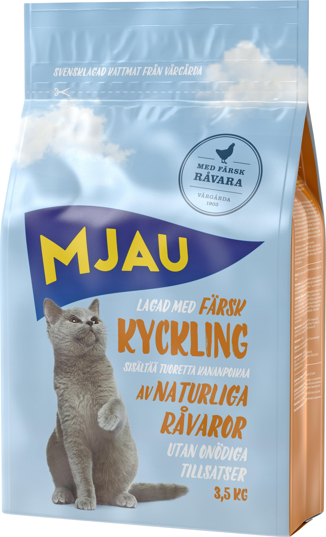 Kattmat Mjau Kyckling, 3,5 kg