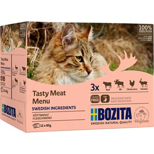 Kattmat Bozita Menybox Kött Bitar i gelé, 12x85 g