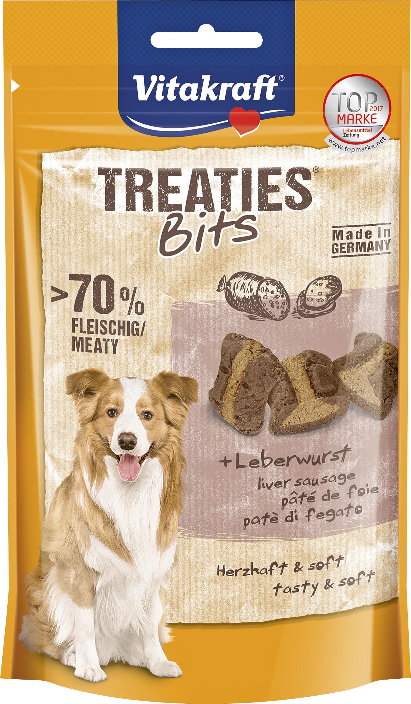 Hundgodis Vitakraft Treaties Bits Lever, 120 g