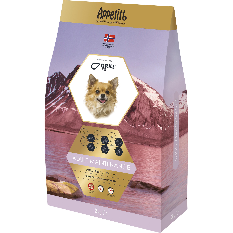 Hundfoder Appetitt Adult Maintenance Small Breed, 3 kg