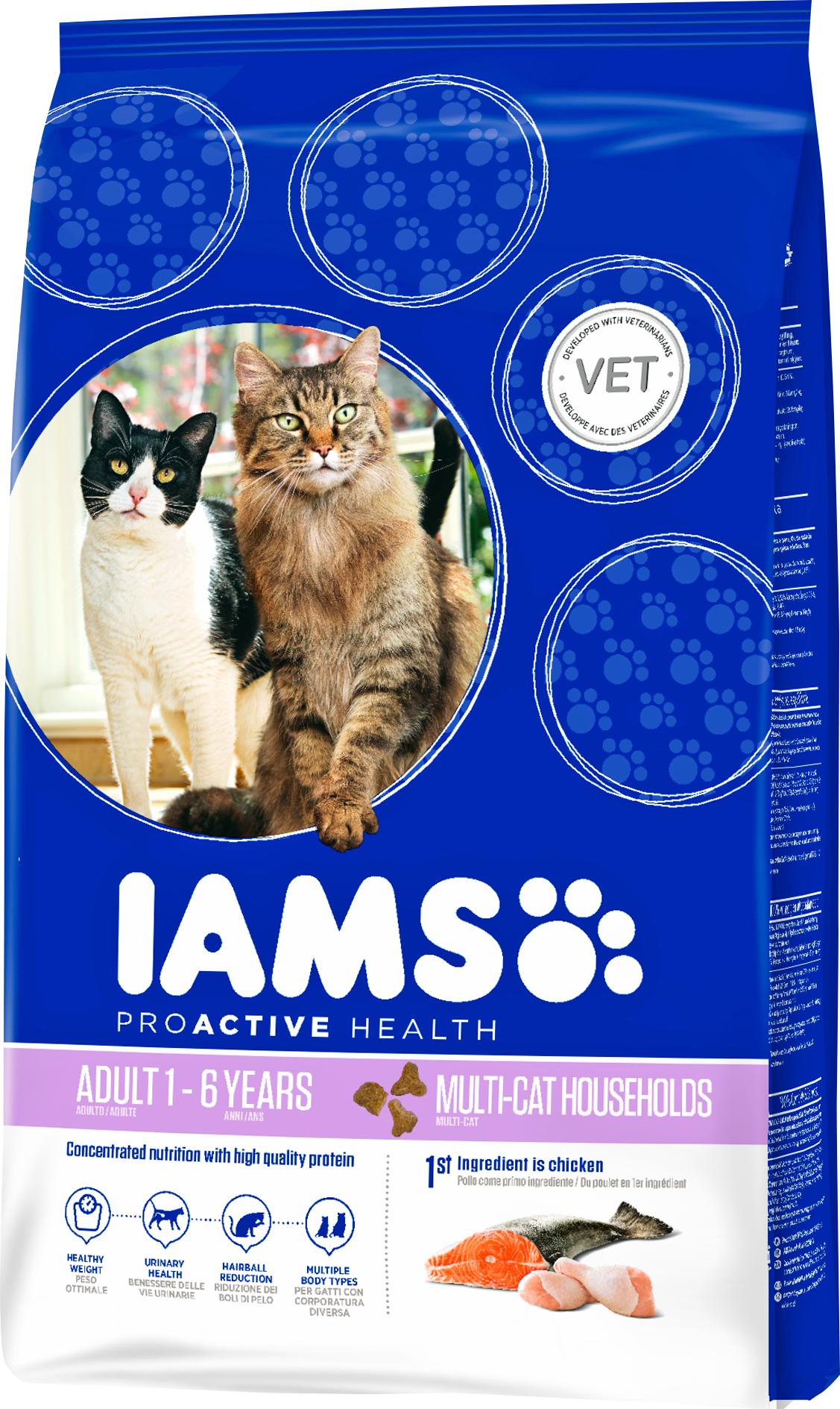 Kattmat Iams Cat Adult Multi-Cat, 15 kg