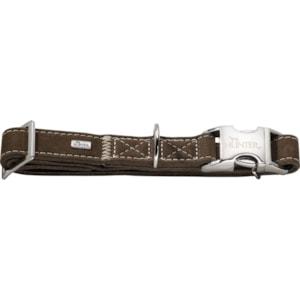 Hundhalsband Hunter Hunting Alu-Strong, Brun S 30-45 cm