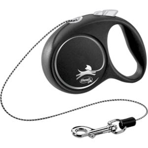 Koppel Flexi Black Design XS 3 m Silver
