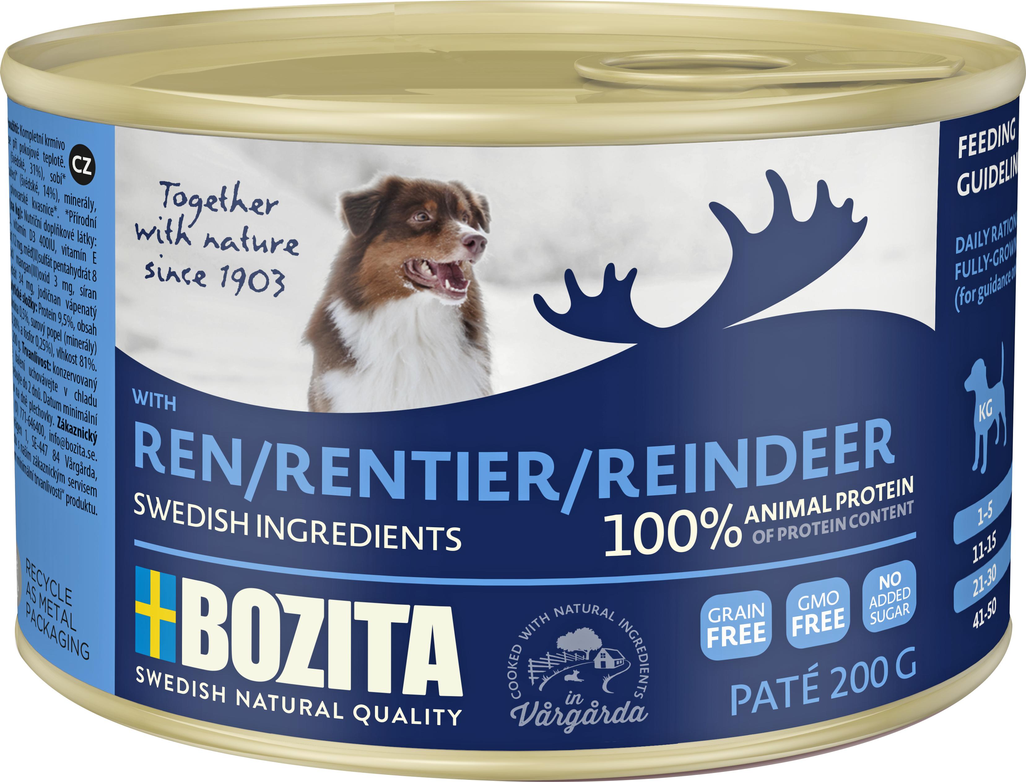 Hundfoder Bozita Ren Konserv 200 gram