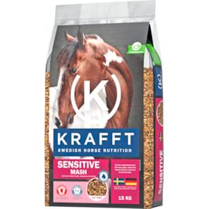 Hästfoder Krafft Sensitive Mash, 15 kg
