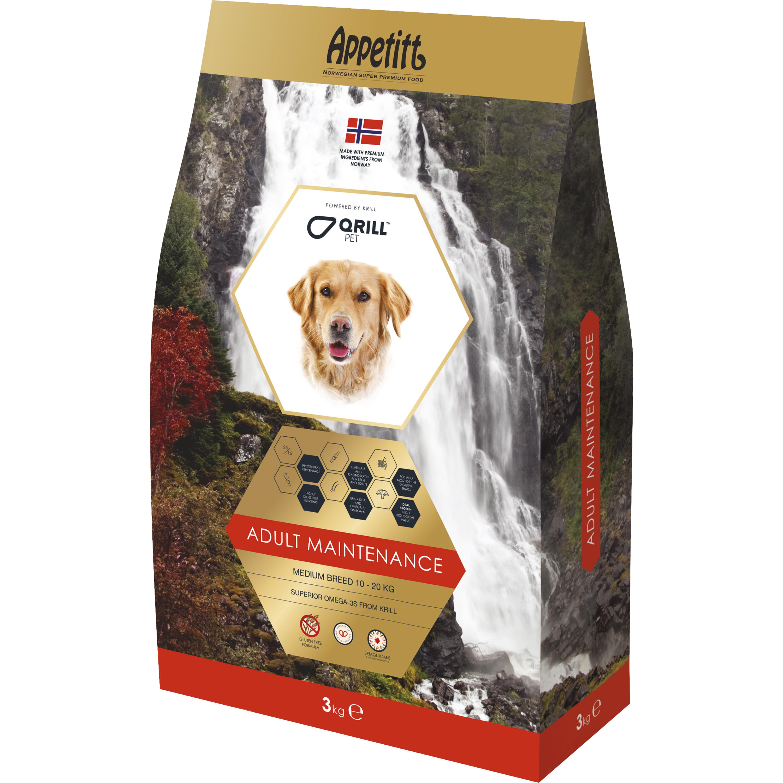 Hundfoder Appetitt Adult Maintenance Medium Breed, 3 kg