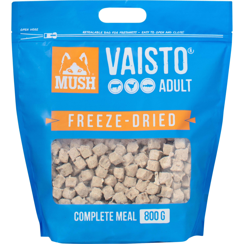 Hundfoder Mush Vaisto Blå Frystorkat, 800 g
