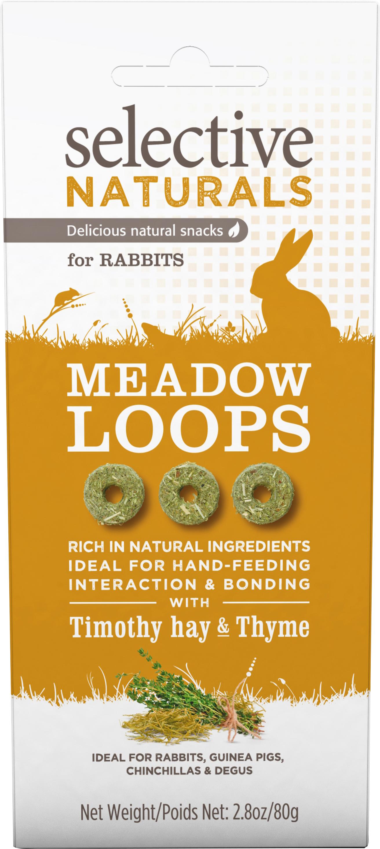 Gnagargodis Selective Naturals Meadow Loops Hö och Timjan, 80 g