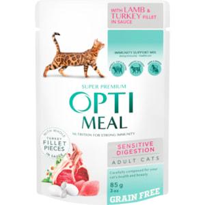 Kattmat Optimeal Adult Grain Free Sensitive Digestion Lamb & Turkey Fillet in Sauce 85g