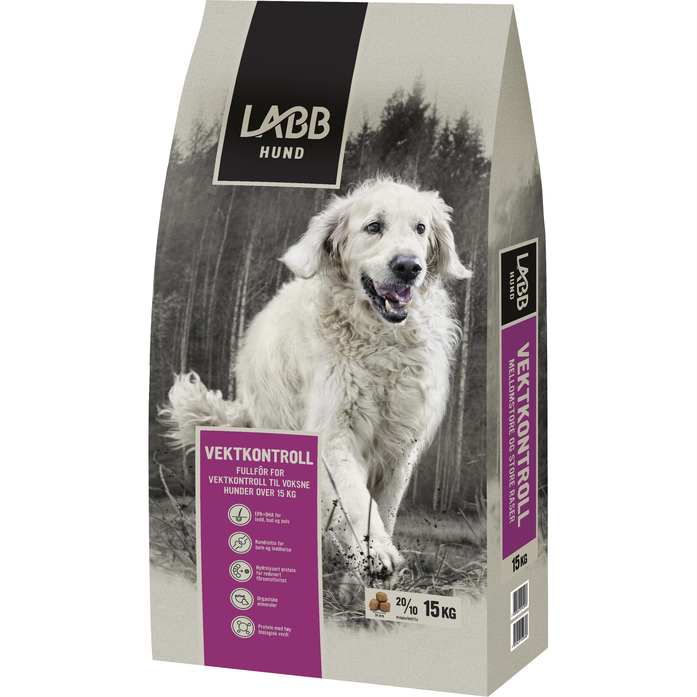 Hundfoder Labb Viktkontroll Mellanstora och Stora raser, 15 kg