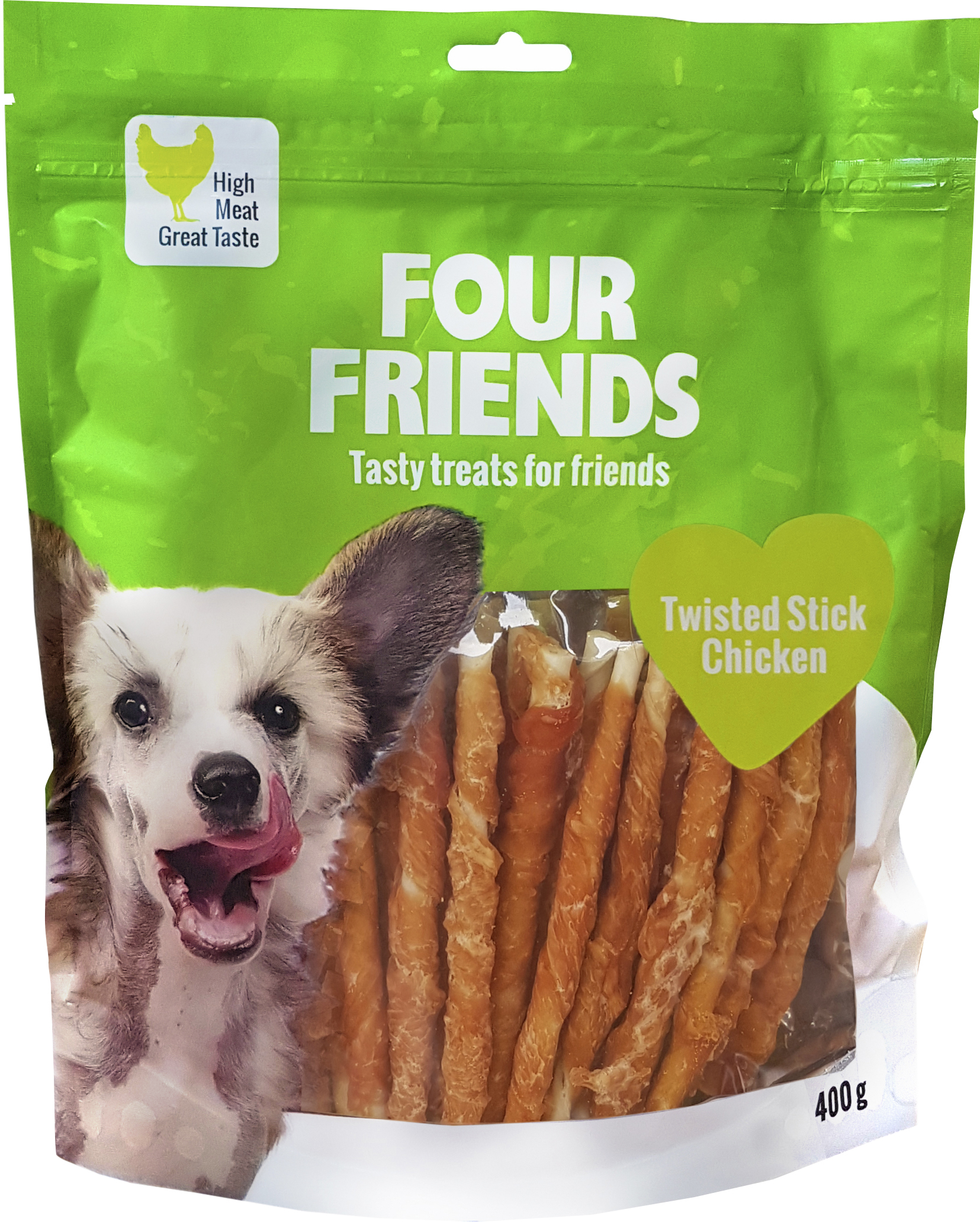 Hundtugg Four Friends Kyckling 12,5 cm, 40-pack