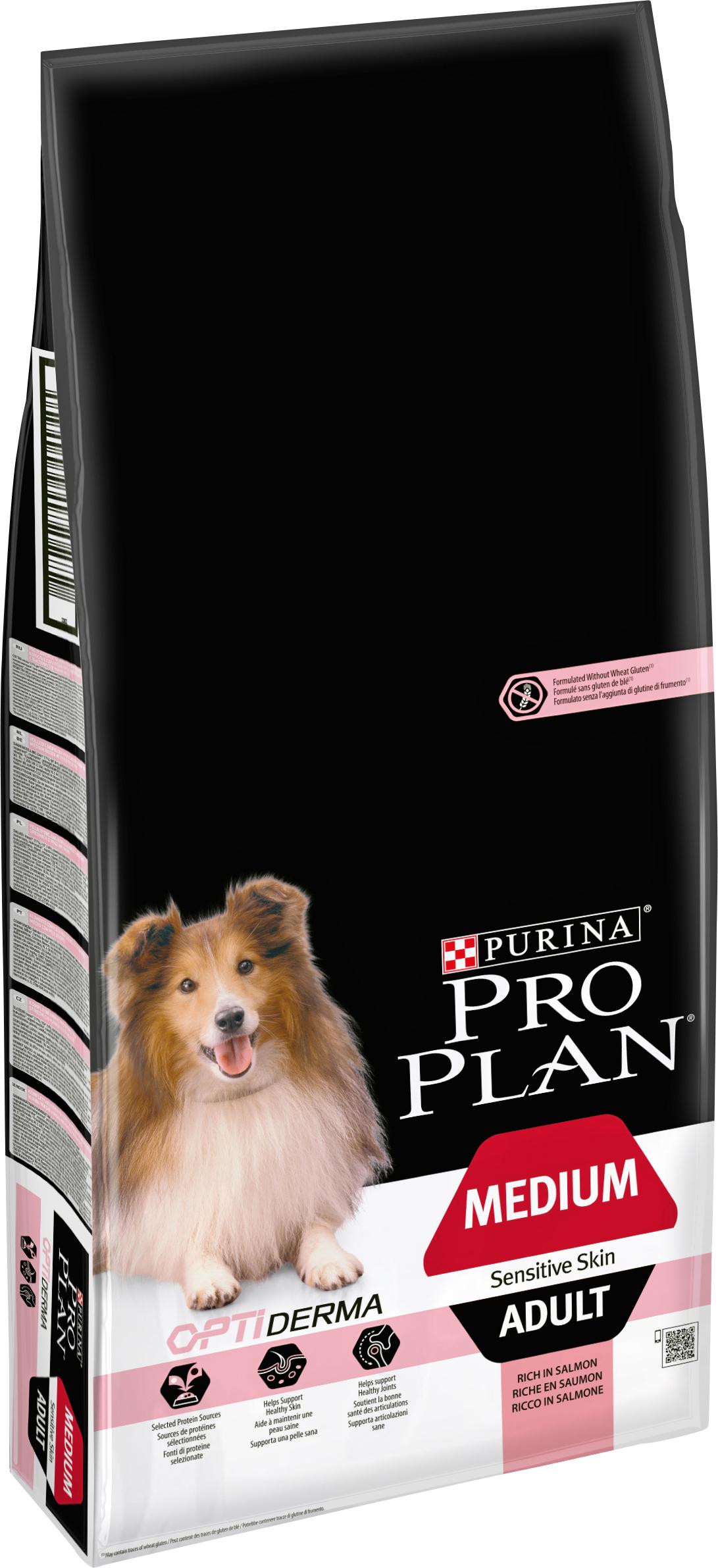 Hundfoder Pro Plan Medium Adult Sensitive Skin, 14 kg