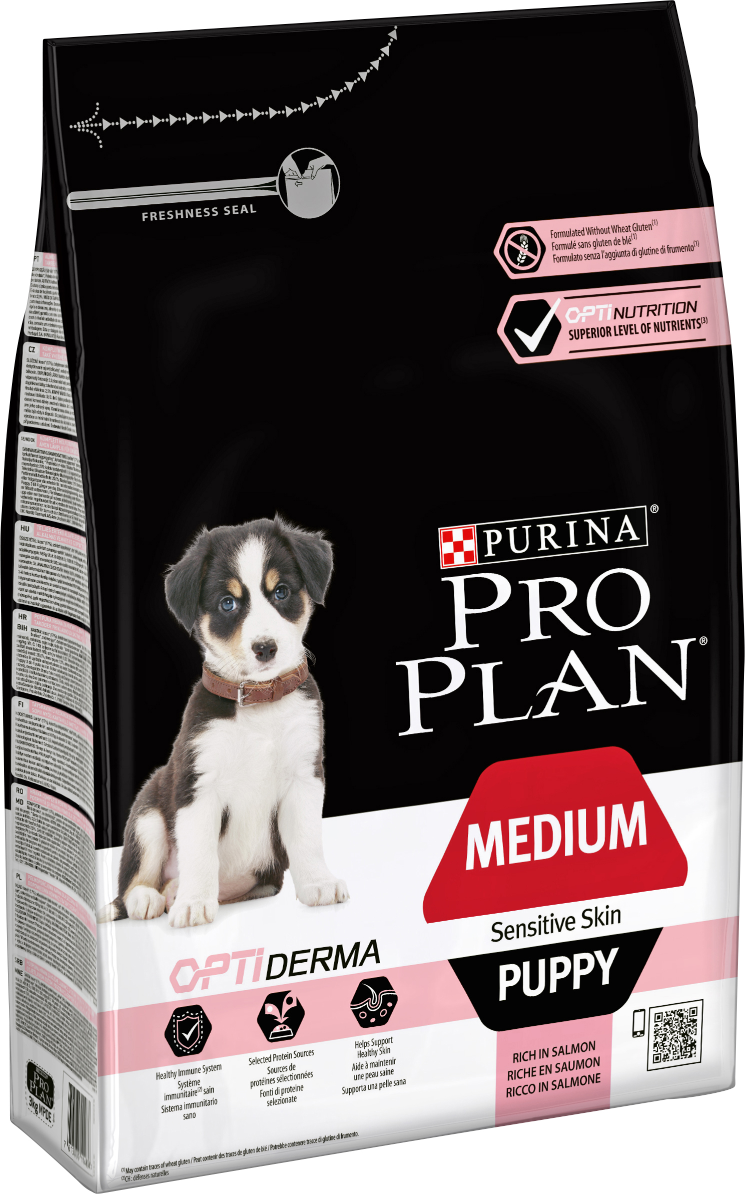 Hundfoder Pro Plan Medium Puppy Sensitive Skin, 3 kg