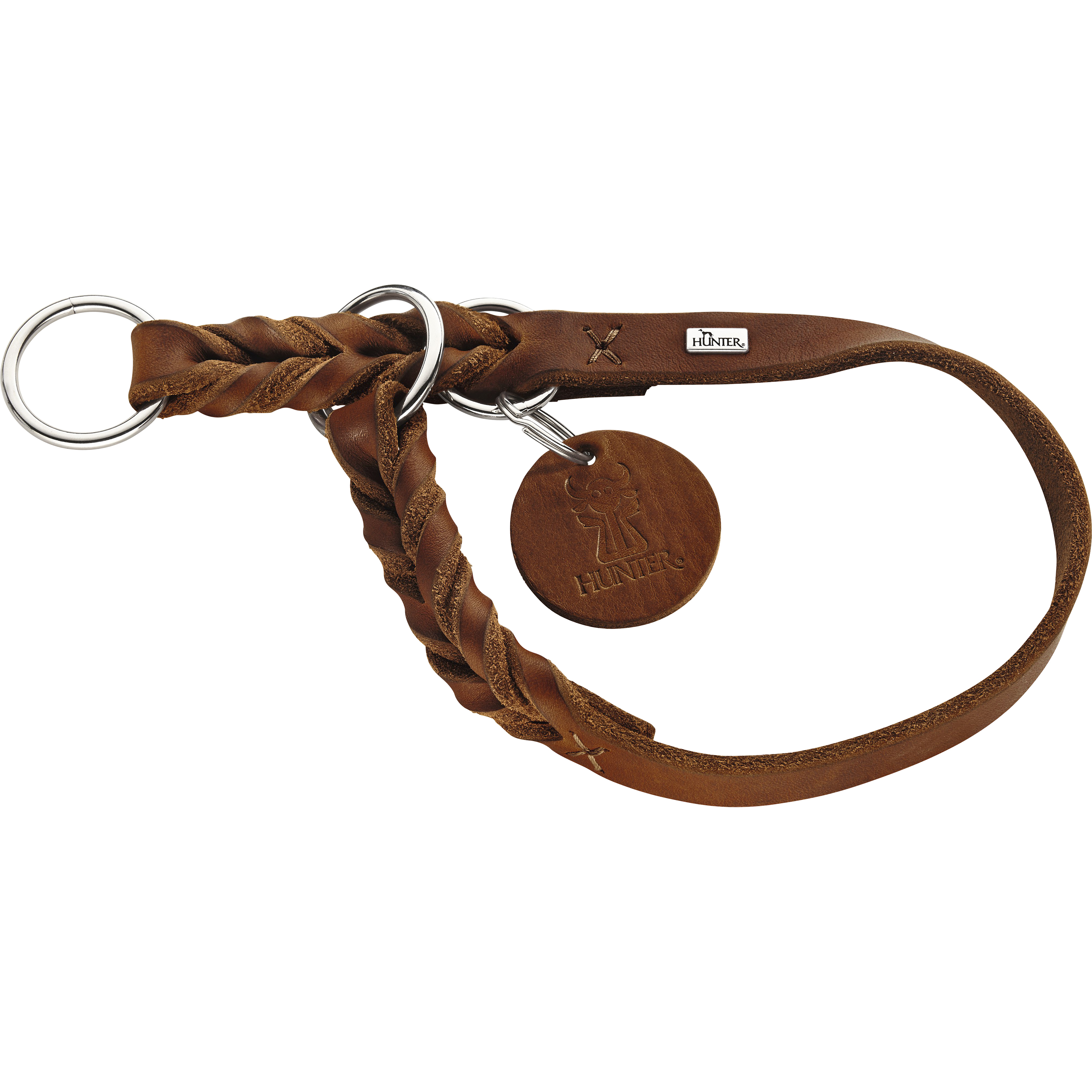 Hundhalsband Hunter Solid Education, Cognac 55 cm