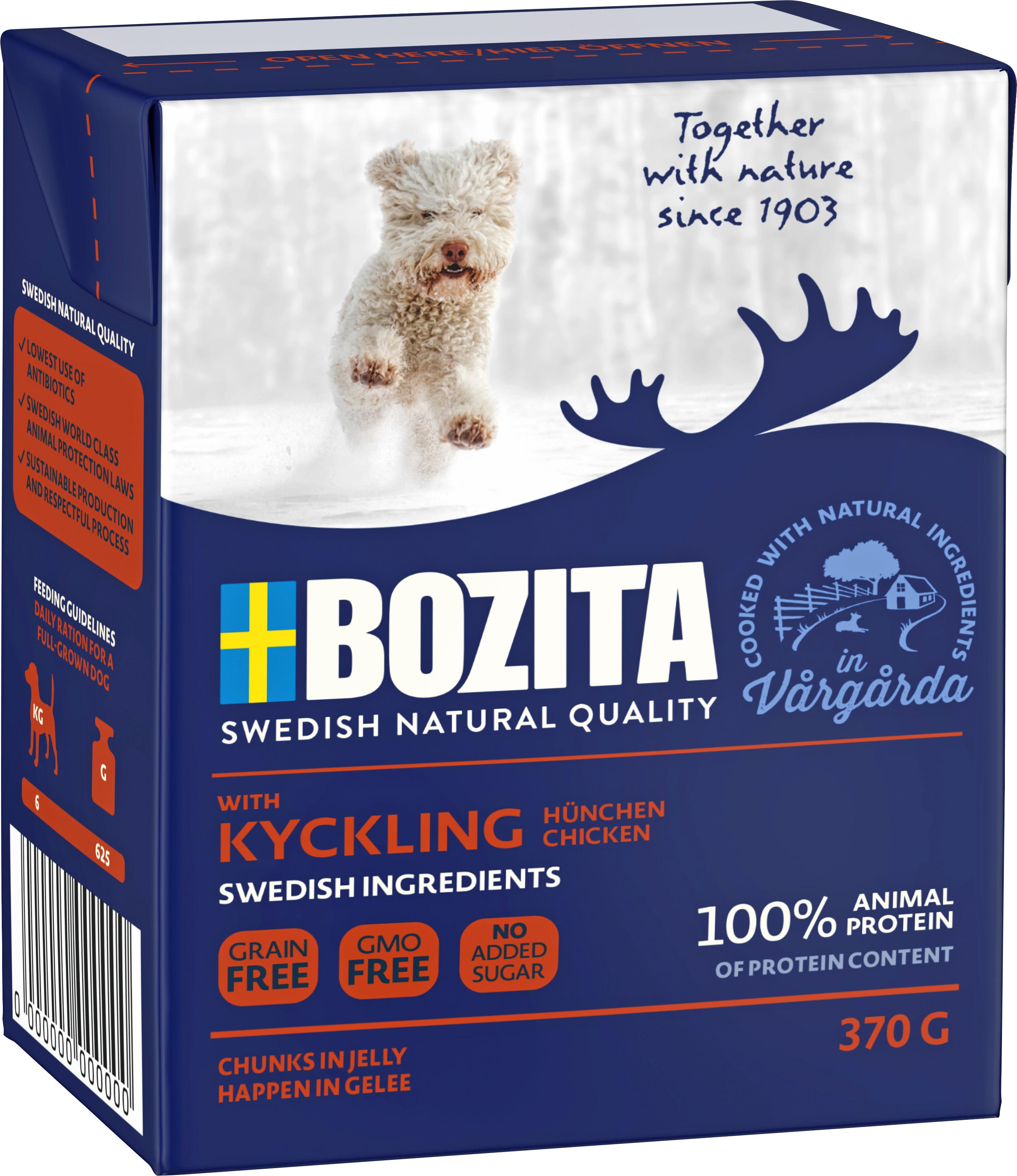 Hundfoder Bozita Tetra Recart Kyckling, 370 g