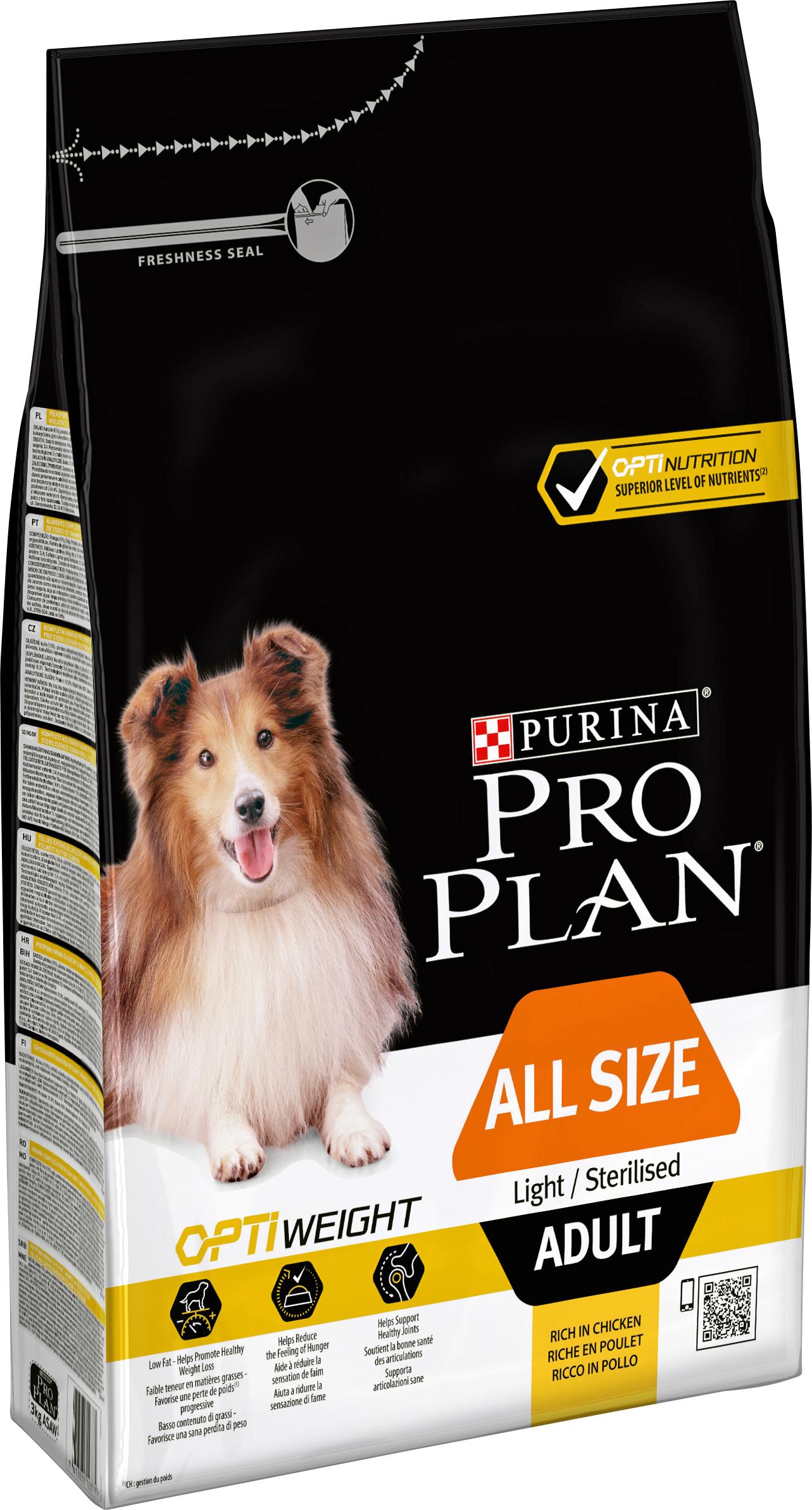 Hundfoder Pro Plan Adult Light Sterilised, 3 kg
