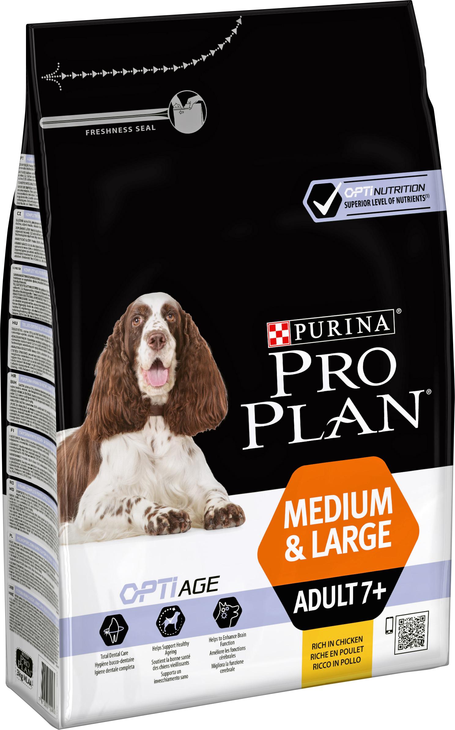 Hundfoder Pro Plan Medium & Large Adult 7+, 3 kg