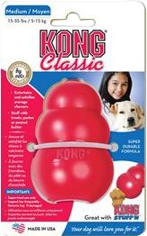 Hundleksak Kong rund röd, M