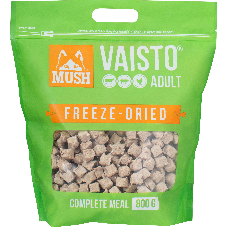 Hundfoder Mush Vaisto Grön Frystorkat, 800 g
