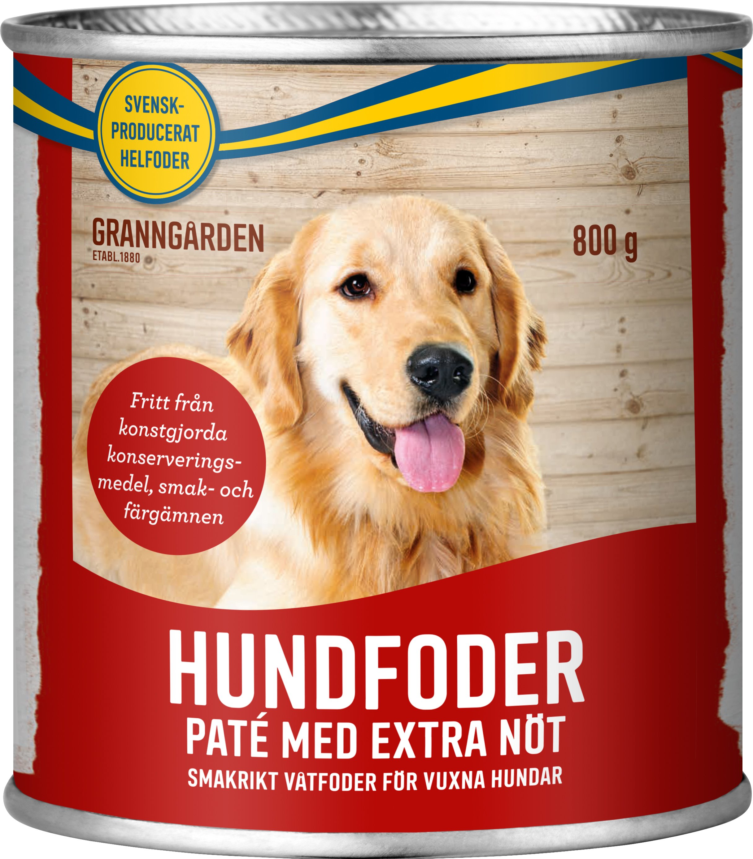 Hundfoder Granngården Paté Nöt, 800 g