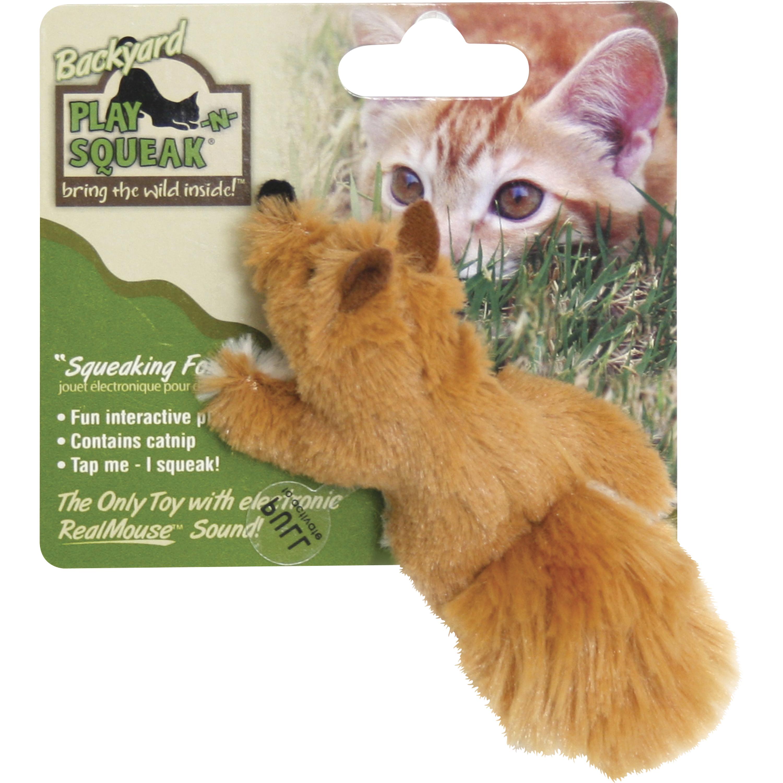 Kattleksak Kitty Play Räv med pip
