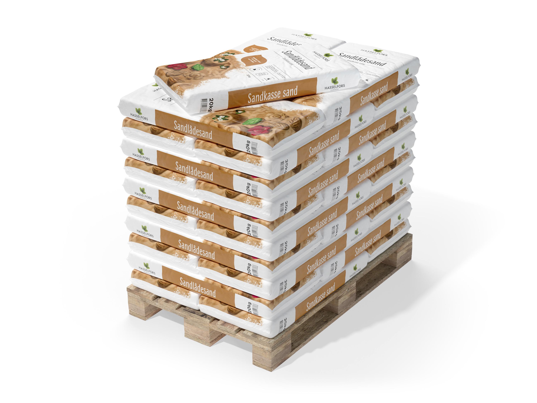 Sandlådesand Hasselfors, 840 kg (Hemleverans, Helpall 42 säckar)