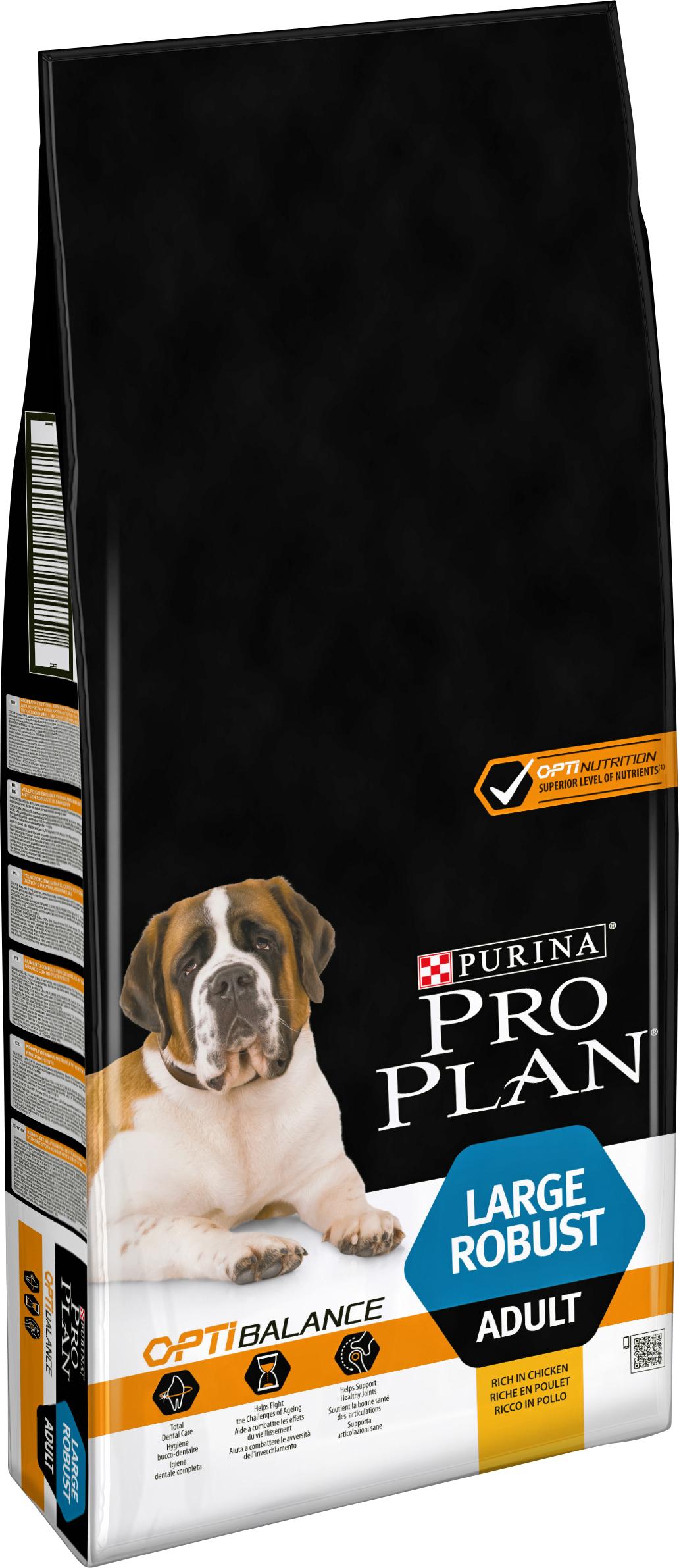 Hundfoder Pro Plan Large Adult Robust, 14 kg
