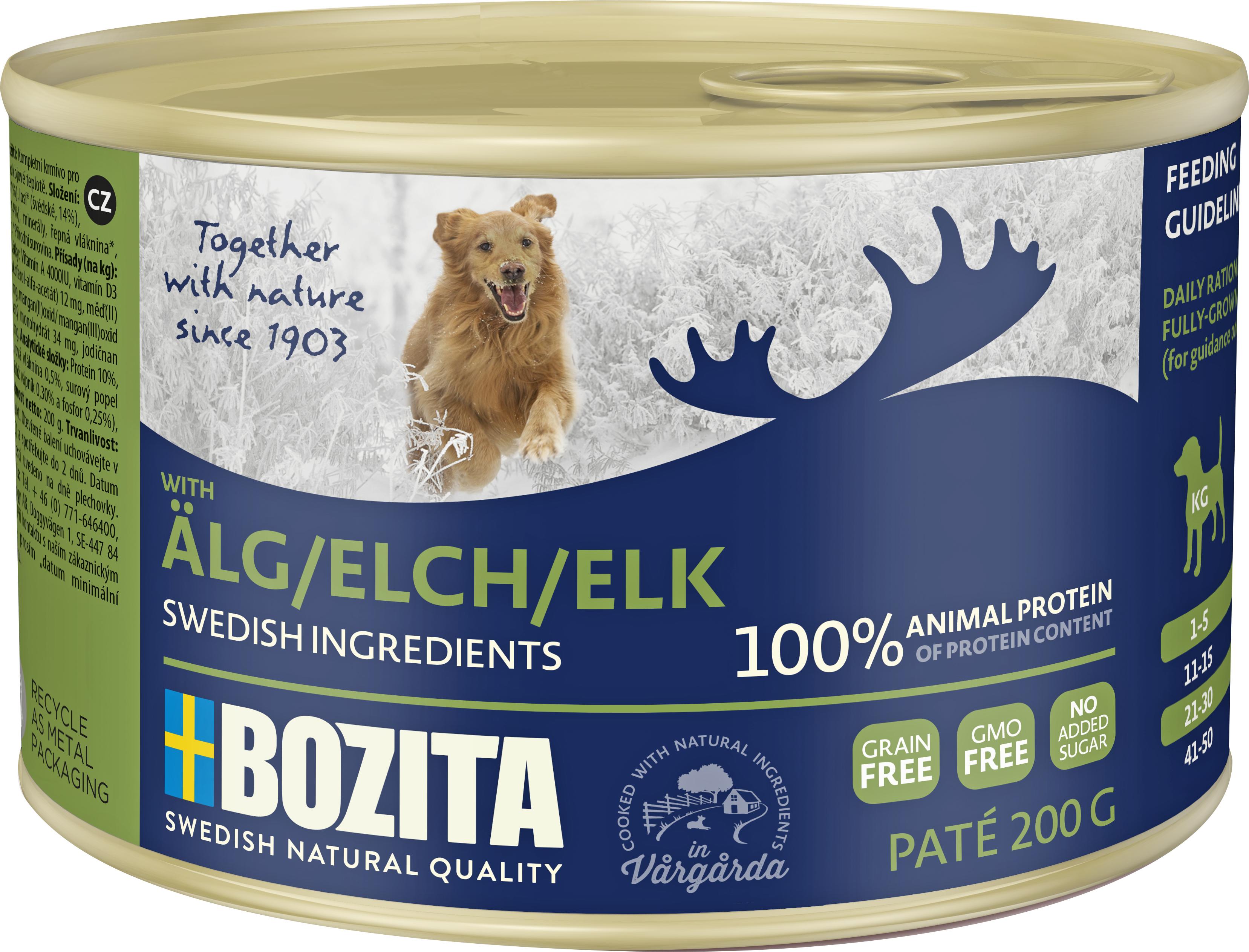 Hundfoder Bozita Älg Konserv 200 gram