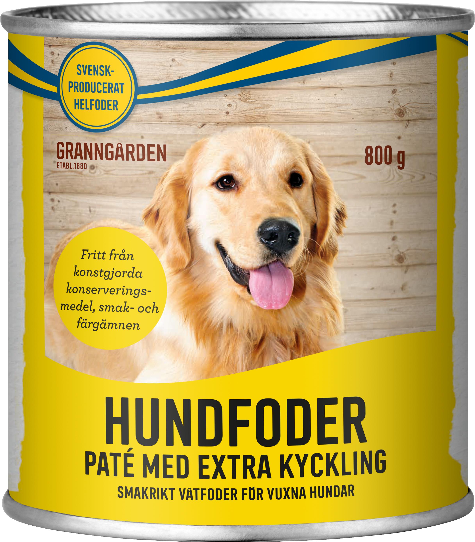 Hundfoder Granngården Paté Kyckling, 800 g