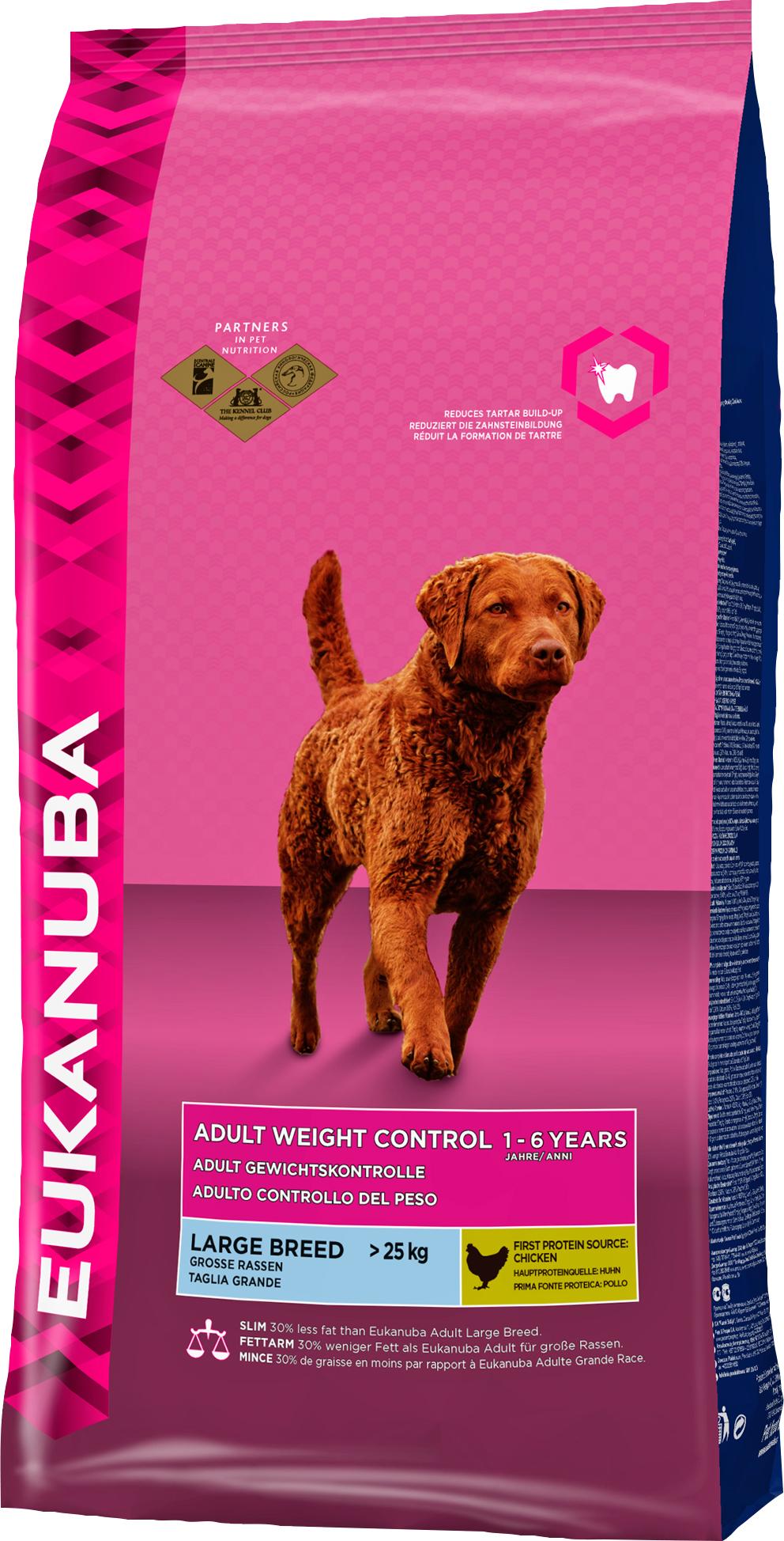 Hundfoder Eukanuba Adult Large Weight Control, 15 kg