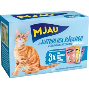 Kattmat Mjau Menybox Kött och fisk, 12 x 85 g