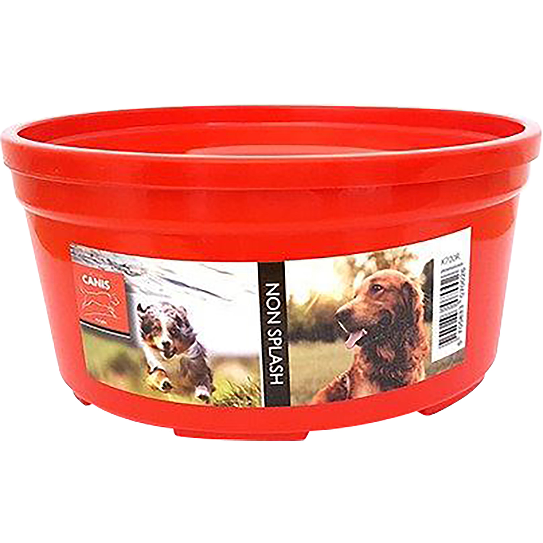 Skvalpskål Active Canis Non-splash, Röd