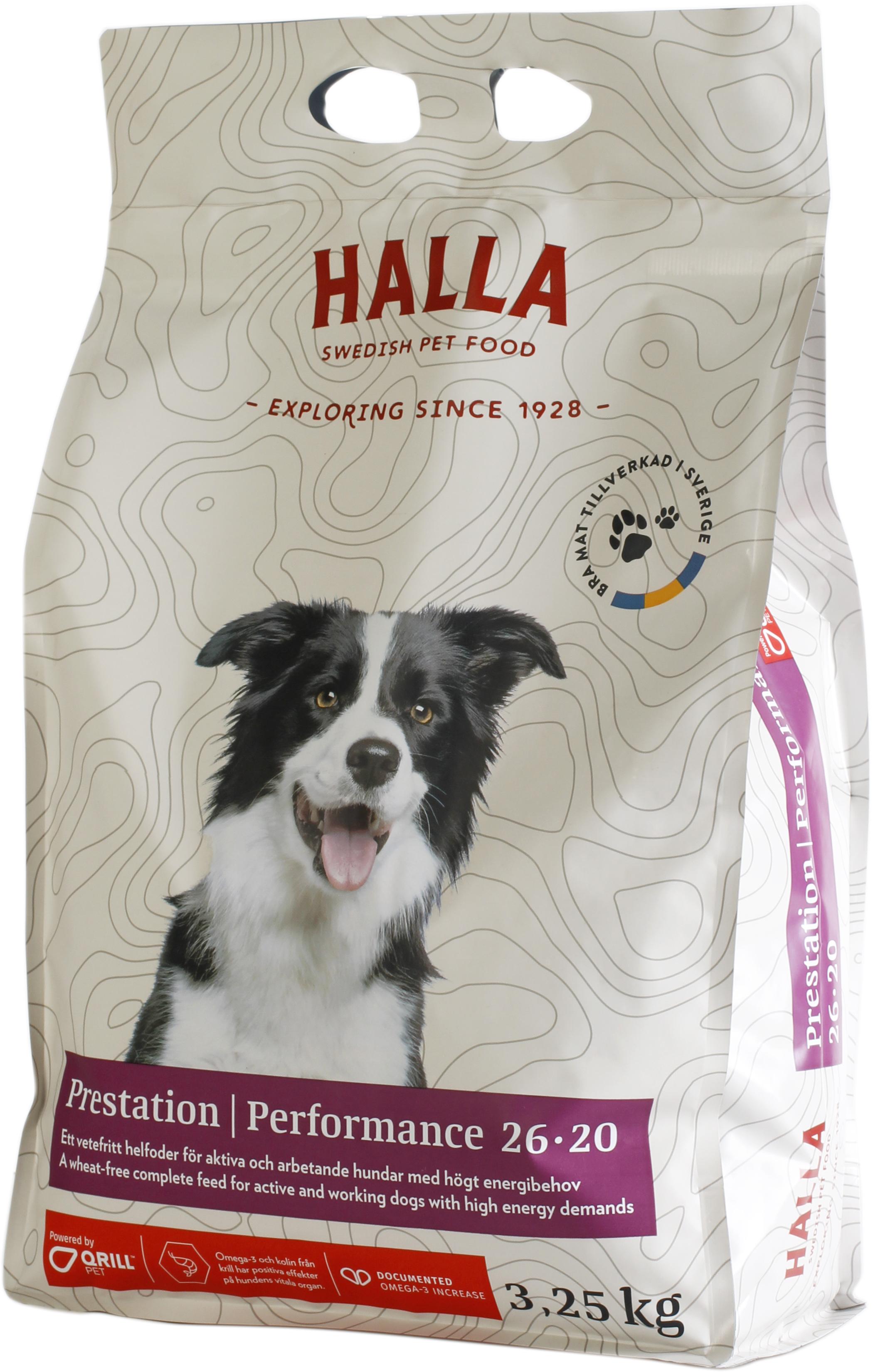 Hundfoder Halla Prestation, 3,25 kg
