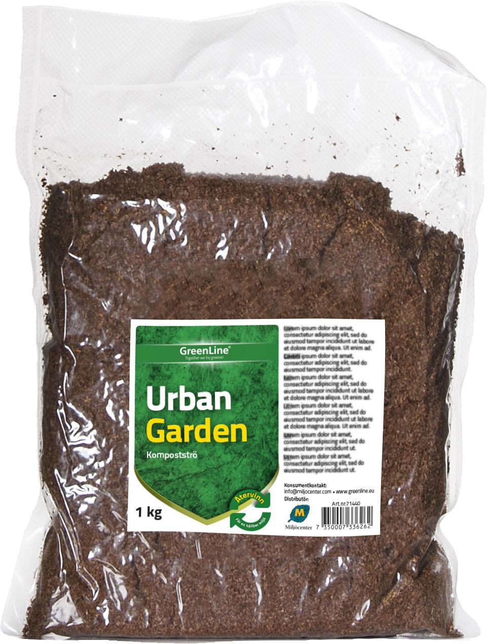 Kompostströ Greenline Urban Garden, 1 kg