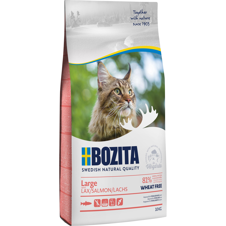 Kattmat Bozita Feline Large Lax, 10 kg