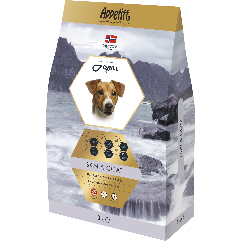 Hundfoder Appetitt Skin & Coat, 3 kg