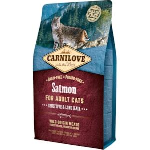 Kattmat Carnilove Adult Sensitive & Long Hair Salmon 2kg