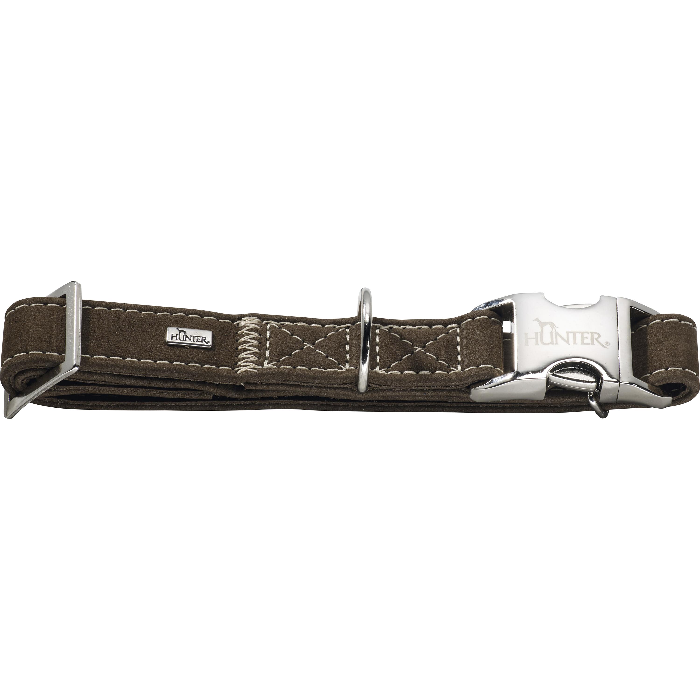 Hundhalsband Hunter Hunting Alu-Strong, Brun L 45-65 cm